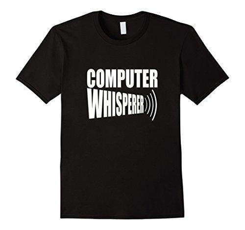 Men's COMP WHISPERER T-SHIRT Funny Computer Geek Nerd Tech Support 3XL Black (The Today Show Halloween Costumes)