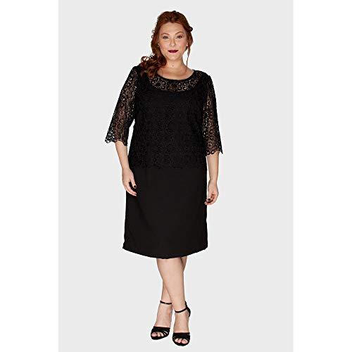 Vestido Renda Plus Size Preto-50