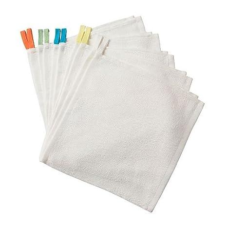 Bebé manopla de toallas (10 unidades) algodón Ikea Krama: Amazon.es: Hogar
