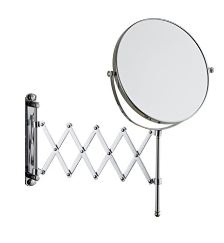 Cavoli 8 Inches Double-sided Wall Mount Scalable Mirror with 3x Magnification,Chrome Finish(8 inch,3x)