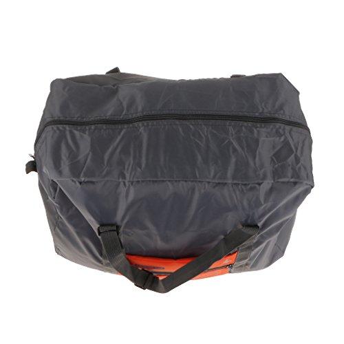 MagiDeal Impermeabile Sacchetto Stoccaggio Di Viaggio Bagagli Corsa Campeggio Trekking Borsa Organizzatore Arancione Pieghevole
