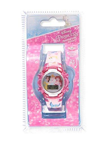 Disney Princess Flashing LCD Watch, Featuring Belle, Ariel, and Cinderella ()