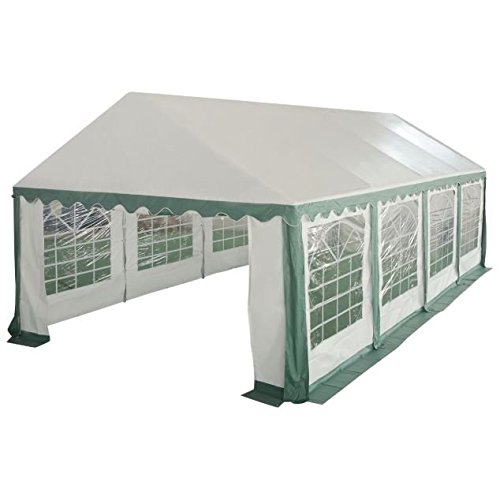 Clear Peak Canopy High (Cypressshop Heavy Duty Pavilion Gazebo Canopy Tent 16 2/5'x26' Outdoor Tent Shelter Party Wedding Carport Green Sun Shade Cover Protection)
