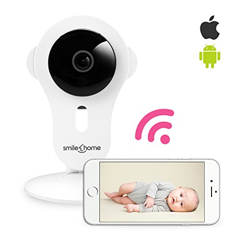 SmileHome(TM) Baby Remote Video Monitor - Multifunctional HD Video Cam with WiFi Wireless Two-Way Audio, Automatic Sound & Motion Alert and Day/Night Version (Skype Customer Service compare prices)