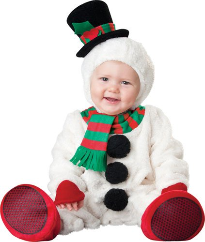 Big Baby Adult Unisex Costumes (InCharacter Costumes Baby's Silly Snowman Costume, White/Red/Black/Red, Large (6 Months-2 Years))