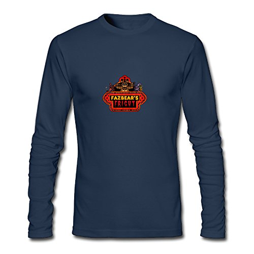 Men's Fashion Five Nights At Freddy Long-sleeve T Navy US Size XL
