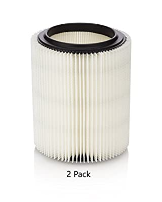 Premium Kopach Fine Particle Filter 2 Pack for Craftsman & Ridgid Shop Vacs, part # 17816,17907, 17912, VF4000