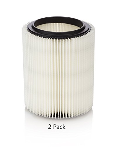 Particle Filter 2 Pack for Craftsman & Ridgid Shop Vacs, part # 17816,17907, 17912, VF4000 ()