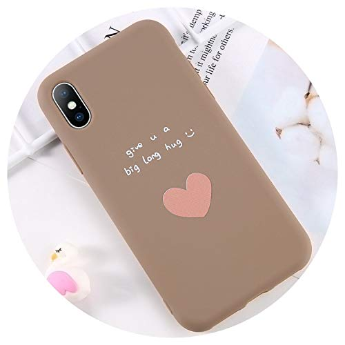 Phone Case for iPhone 6 6s 7 8 Plus X XR XS Max Cute Cartoon Letter Love Heart Cactus Soft TPU for iPhone X Phone Case,T3,for iPhone 8 Plus (T3 Cast)