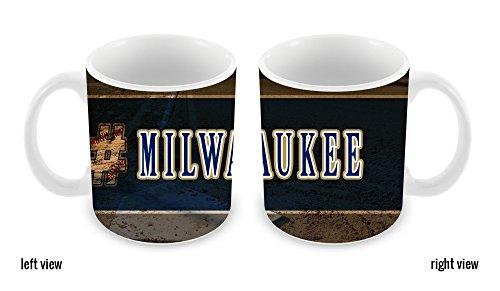 BleuReign(TM) Hashtag Milwaukee #Milwaukee Baseball Team 11oz Ceramic Coffee Mug