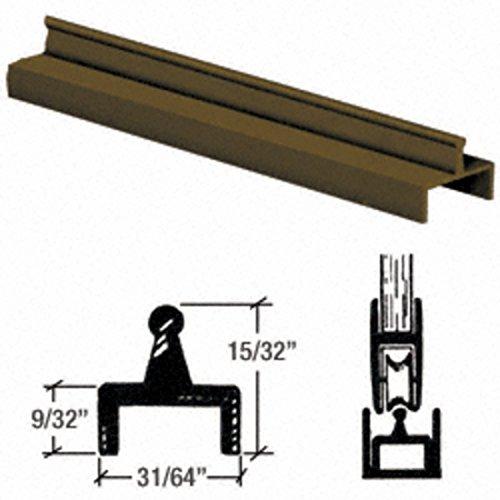 Single Door Rail - CRL Brite Bronze Aluminum Single Bottom Rail