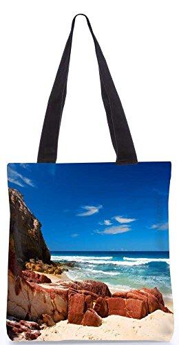 """Snoogg Heißen Sonnigen Strand-Einkaufstasche 13,5 X 15 In """"Shopping-Dienstprogramm Tragetasche Aus Polyester Canvas"""