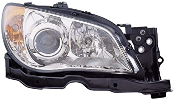 Unknown Partslink Number SU2503113 OE Replacement Subaru Impreza Passenger Side Headlight Assembly Composite