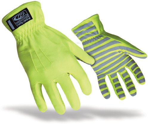 Ringers Solution - Ringers TrafficR-307 Reflective Gloves for Traffic Control, High Visibility, Green, Medium