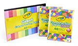 Crayola 99-0553 Large Construction Paper Pad with Shape & Stencil Sheets, Bulk Construction Paper, 144 Sheets