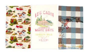 Lake House Vintage Style Towels Set of 3