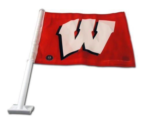 Rico Industries NCAA Wisconsin Badgers Car Flag