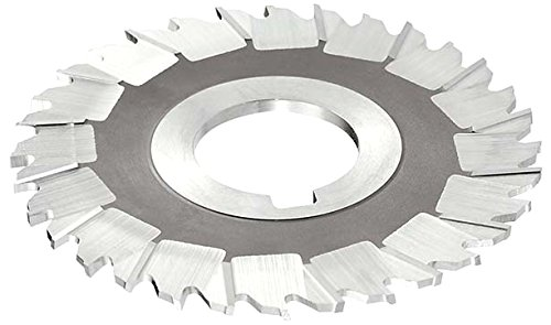 KEO Milling 80952 Staggered Tooth M42 Slitting Saw,CMS Style 3//16 Width 4 Cutting Diameter TiCN Coating 1 Arbor Hole 32 Teeth HSCO