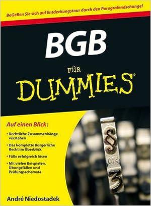 Bgb Für Dummies Amazonde André Niedostadek Bücher