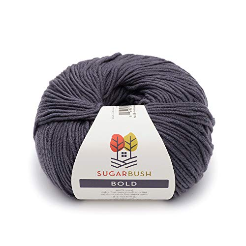 - Sugar Bush Yarn Bold Knitting Worsted Weight, Georgian Grey
