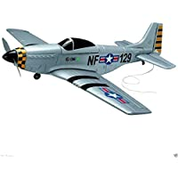 (Ship from USA) 4Ch Radio Remote Control Airplane Mustang P51 Warbird EP RC Airplane RTF by ROSOLO INC