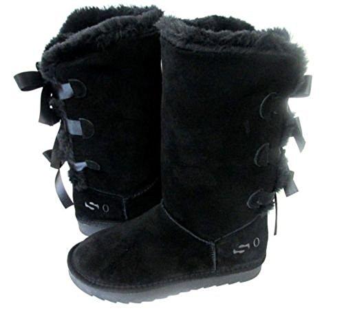 SO Boot Black Original Brand Women 4562 Bows New Three Classic rrY0zq
