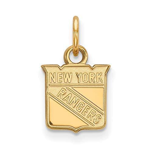 (Roy Rose Jewelry 14K Yellow Gold NHL LogoArt New York Rangers X-small Pendant/Charm)