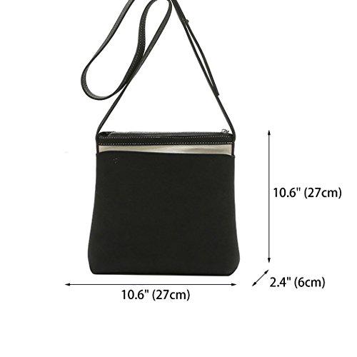 de bolsos hombro mano Bolsos para Fekete Shoppers Bolsos mujer de con asa bandolera y Carteras wAwXqIg