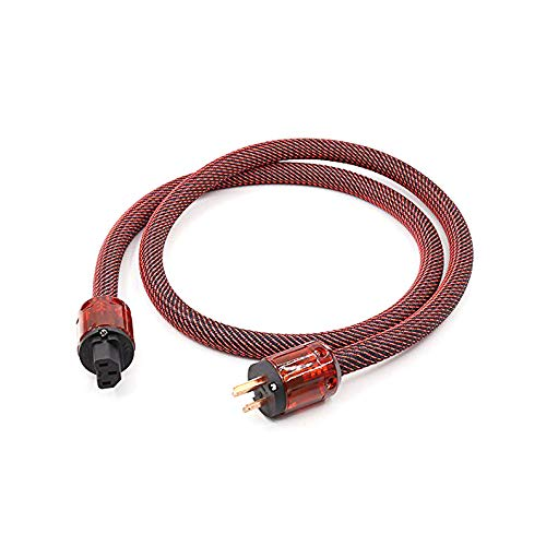 HiFi Audiophile Power Cord 125V 15A,Hi End Amplifier Power Cord Braided Sleeve Audio AC Power Cable with US Plug (3.3FT/1M)