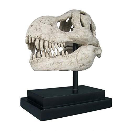 Design Toscano T-Rex Dinosaur Skull Fossil Statue on Museum Mount