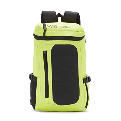 The Vertical Vitality Polyester 25 Ltrs Lime School Backpack  8903496091144