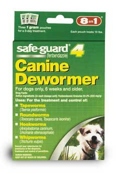 8 in 1 Safe-guard 4 Dewormer for Small Dogs by 8 in 1