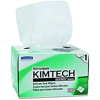 Kimwipes Delicate Task Kimtech Science Wipers (34120), White, 1-PLY, 30 Pop-Up Boxes / Case, 280 Sheets / Box, 8,400 Sheets / Case