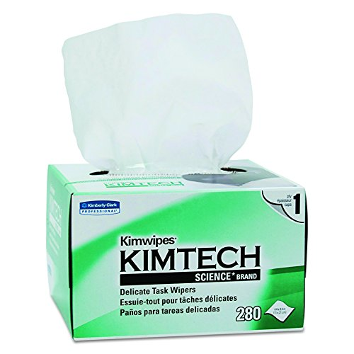 Kimwipes Delicate Task Kimtech Science Wipers (34120), White, 1-PLY, 30 Pop-Up Boxes / Case, 280 Sheets / Box, 8,400 Sheets / Case (Kimwipes Lens)