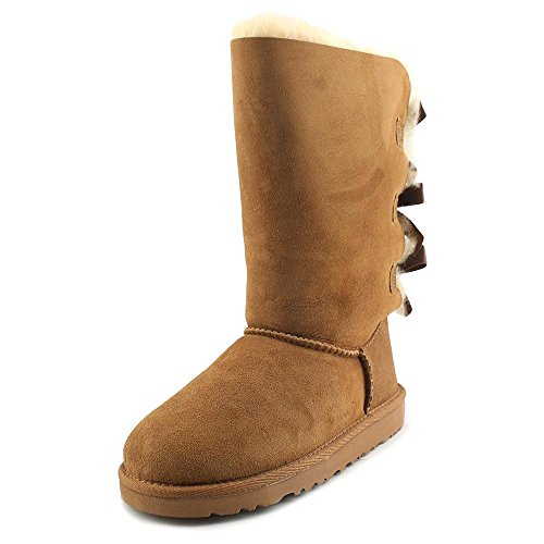 UGG Australia Kids Bailey Bow Tall Boot Chestnut Size 3 M US Little Kid
