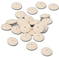 "Jewelers Felt Wheel Buffs Knife Edge Hard 5/8"" Diameter Box of 24"