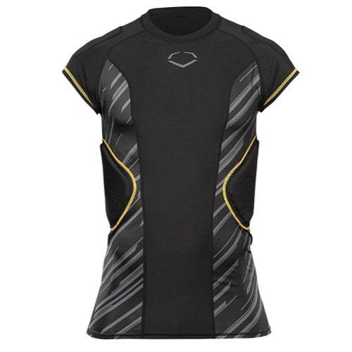 EvoShield Youth EVOPRO Rib Football Shirt - Black/Silver-S