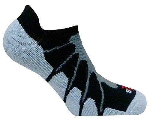 Sox Italy No Show Ghost Socks - Silver Drystat Plantar Suppo