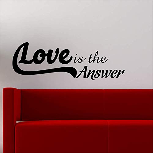 Dozili Vinyl Wall Decal Sticker Wall Art Love is The Answer for Bedroom Living Room Nursery Kids Room Hose Home Decoration Gift Idea 8.1