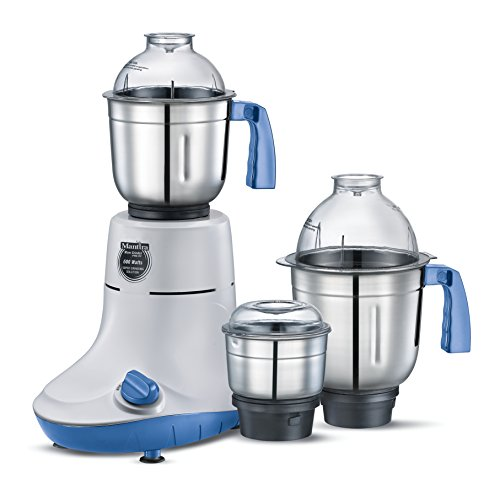 Prestige Manttra Powerful Mixer Grinder with 3 Stainless Steel Jars for Grinding and Juicing, 600 Watt,110 Volt for USA, PMG 03
