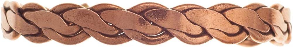 Aranato Bracelet en cuivre tress/é /él/égant Bracelet en cuivre Naturel sans aimants