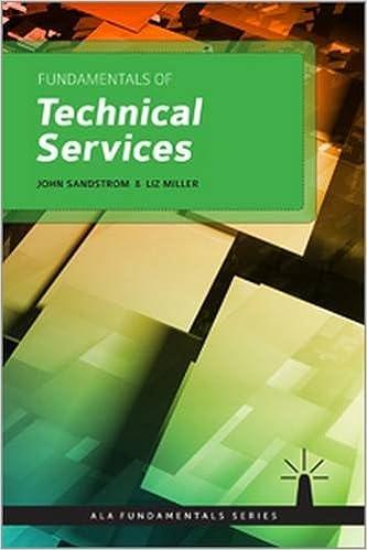 Fundamentals Of Technical Services (Ala Fundamentals) Ebook Rar