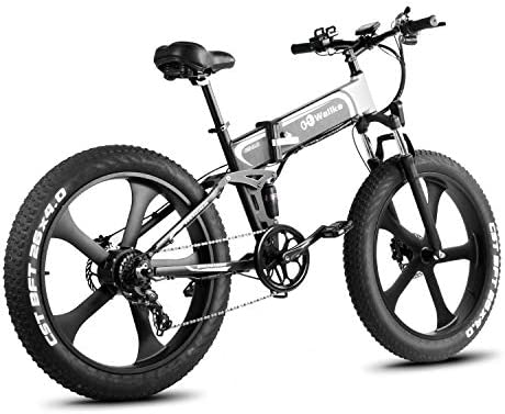 W Wallke 26 inch Fat Tire E-Bike 750W Mountain Snow Electric Bicycle 48V10.4ah Beach Cruiser Adult Auxiliary ebike Double Disc Hydraulic Brake System