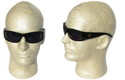 Jackson 3016316 KC 21307 Smith and Wesson Elite Safety Glasses Black Frame Blue Mirror Lens, 1 Pair