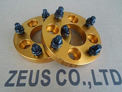 4H100→114.3変換 ワイドトレッドスペーサー 2枚組 1.25 20mm (金)