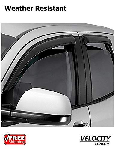 Velocity Concepts Sun/Rain Guard For 2005 2015 Toyota Tacoma Access Cab  Vent Shade