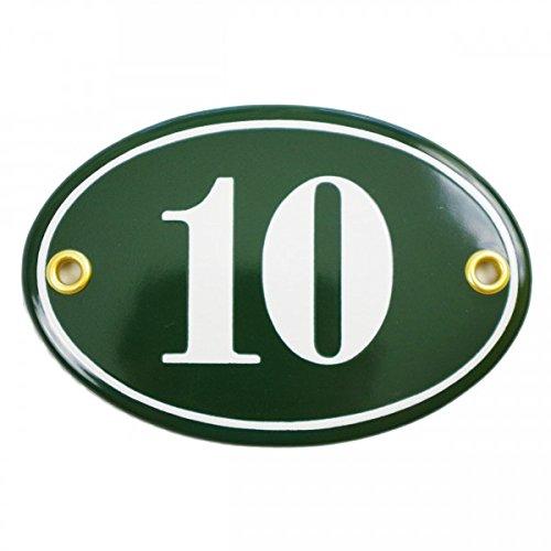 Enamel room door plaque | OVAL 7x10, 5 cm | personalised house number sign Sosenco
