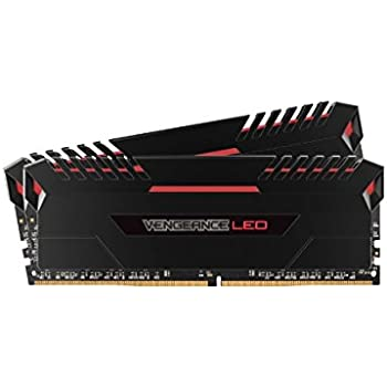 Corsair Vengeance 16GB (2x8GB) DDR4 3000 (PC4-24000) C15 for DDR4 Systems, Red LED (CMU16GX4M2C3000C15R)