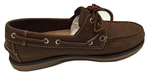 Damen Deck Schuhe Boot Schuhe 4Farben weichem Nubuk - Braun