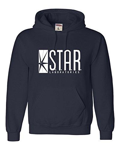 Medium Navy Blue Adult Star Labs Sweatshirt Hoodie